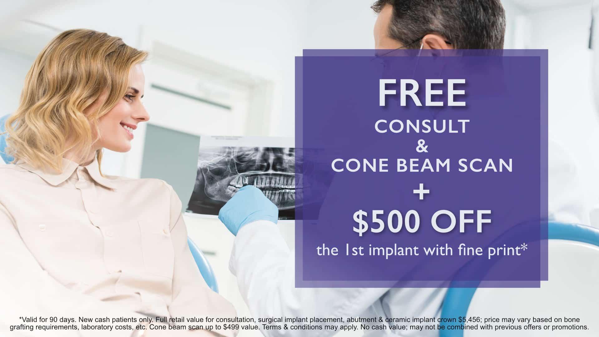 asha dental special offer free consult cone beam